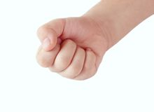 儿童接近的拳头s 免版税库存图片