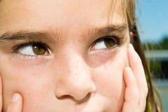 儿童接近的表达式注视s  免版税库存照片