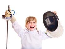 儿童操刀藏品的服装锐剑 库存照片