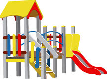 儿童操场向量 免版税库存图片