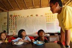 儿童教室被剥夺的午餐时间 库存图片