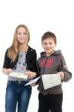 儿童文件研究 免版税库存图片