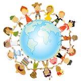 儿童日地球 库存照片