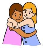 儿童朋友拥抱 免版税库存照片