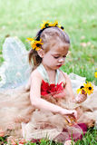 儿童服装打扮的神仙 免版税库存图片