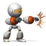 儿童机器人攻击 免版税库存图片