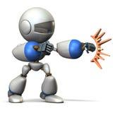 儿童机器人攻击 免版税库存照片