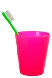 儿童杯子牙刷 免版税库存图片