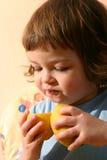 儿童柠檬 免版税库存照片