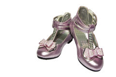 儿童桃红色鞋子 免版税库存图片