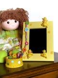 儿童框架照片 库存照片