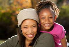儿童母亲做父母 免版税图库摄影