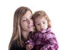 儿童母亲柔软 免版税图库摄影