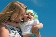 儿童母亲 免版税图库摄影