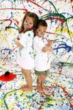 儿童油漆 库存图片