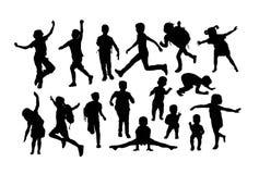 儿童活动剪影 库存图片