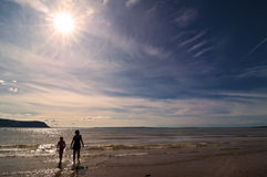 儿童海边 库存图片