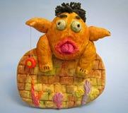 儿童淘气使用的玩具yo 免版税库存图片
