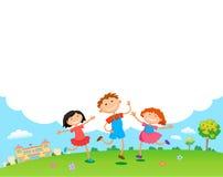 儿童游戏云彩设计在天空背景传染媒介例证 库存图片
