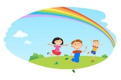 儿童游戏云彩设计在天空背景传染媒介例证 图库摄影