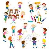 儿童游戏另外种类比赛 向量例证