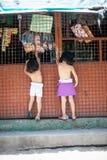 儿童游戏在围场 库存图片