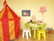 儿童游戏空间 库存照片