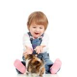 儿童滑稽小猫使用 免版税库存照片