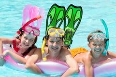 儿童潜水的水肺 库存照片