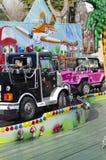 儿童火车在游乐园 免版税图库摄影