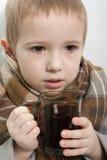 儿童热病 库存图片