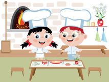 儿童烹调 免版税库存图片
