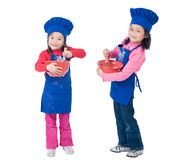 儿童烹调 免版税图库摄影