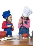 儿童烹调 图库摄影
