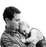 儿童父亲他的 免版税库存照片