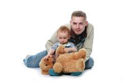 儿童父亲 免版税库存图片