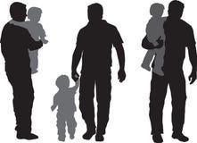 儿童父亲 免版税库存照片