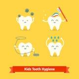 儿童牙关心和卫生学 免版税库存照片