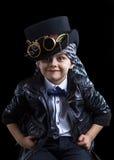 儿童特写镜头steampunk 免版税库存图片