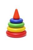 儿童玩具金字塔 库存照片