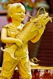 儿童瓷雕象 免版税图库摄影