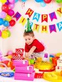 儿童生日聚会。 免版税库存图片