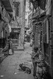 儿童生活在瓦腊纳西,印度 库存照片