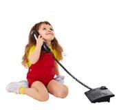 儿童电话联系 免版税图库摄影