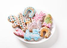 儿童的五颜六色的姜饼 库存图片