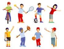 儿童的体育 免版税库存图片