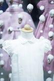 儿童的党婚礼或洗礼衣裳 免版税图库摄影
