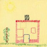 儿童的刺绣 免版税库存图片