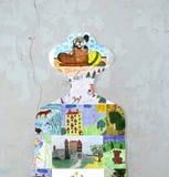 儿童的图画剪影。 免版税库存图片