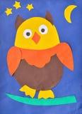 儿童的图画猫头鹰 图库摄影